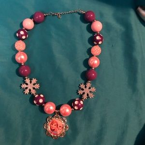 Chunky bubble Frozen Sisters necklace